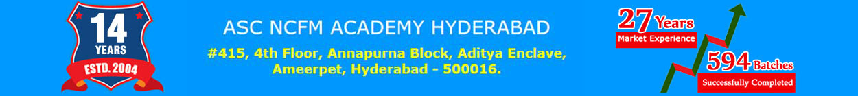 NCFM, NISM, Stock Market Courses in Hyderabad Job Opportunities