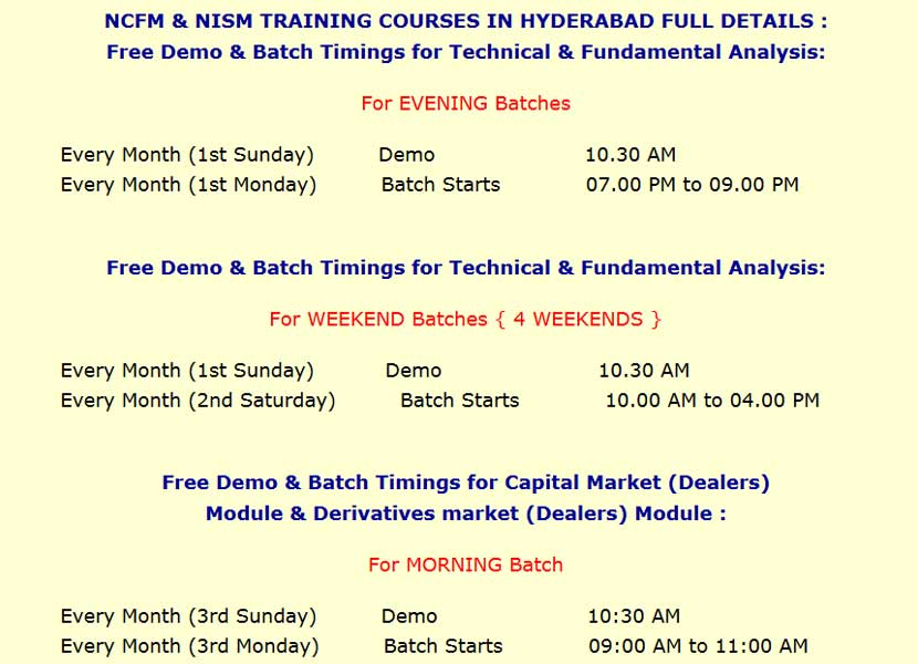 Training Courses Modules