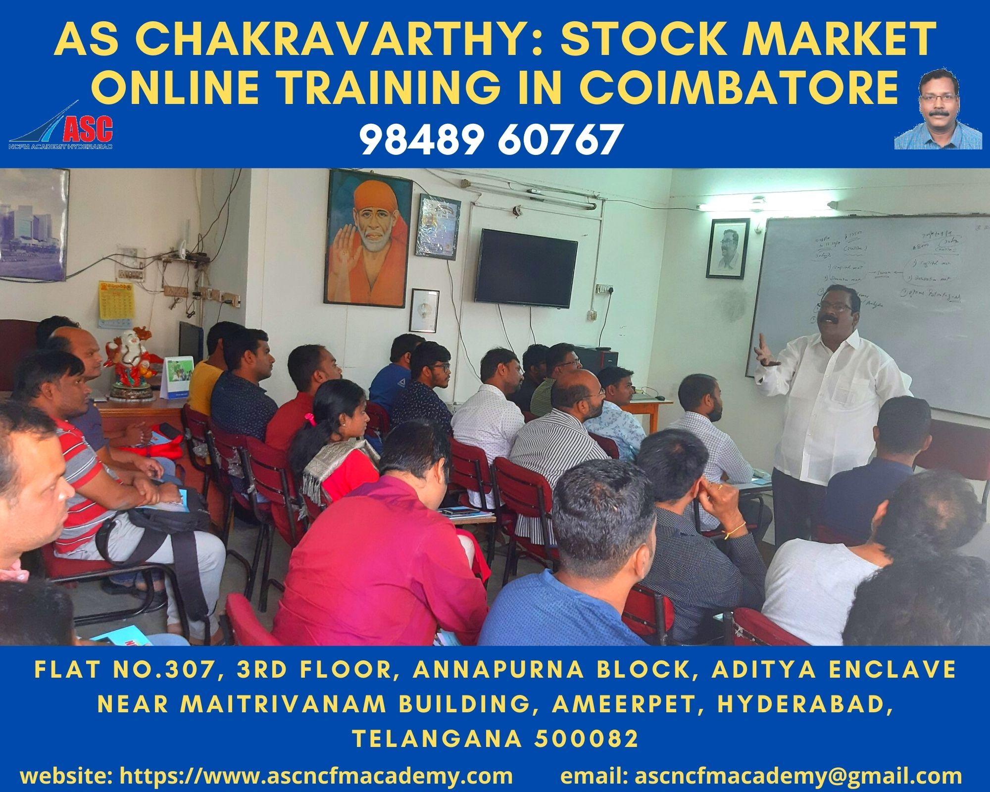 Online Stock Market Technical Training in Telugu Coimbatore