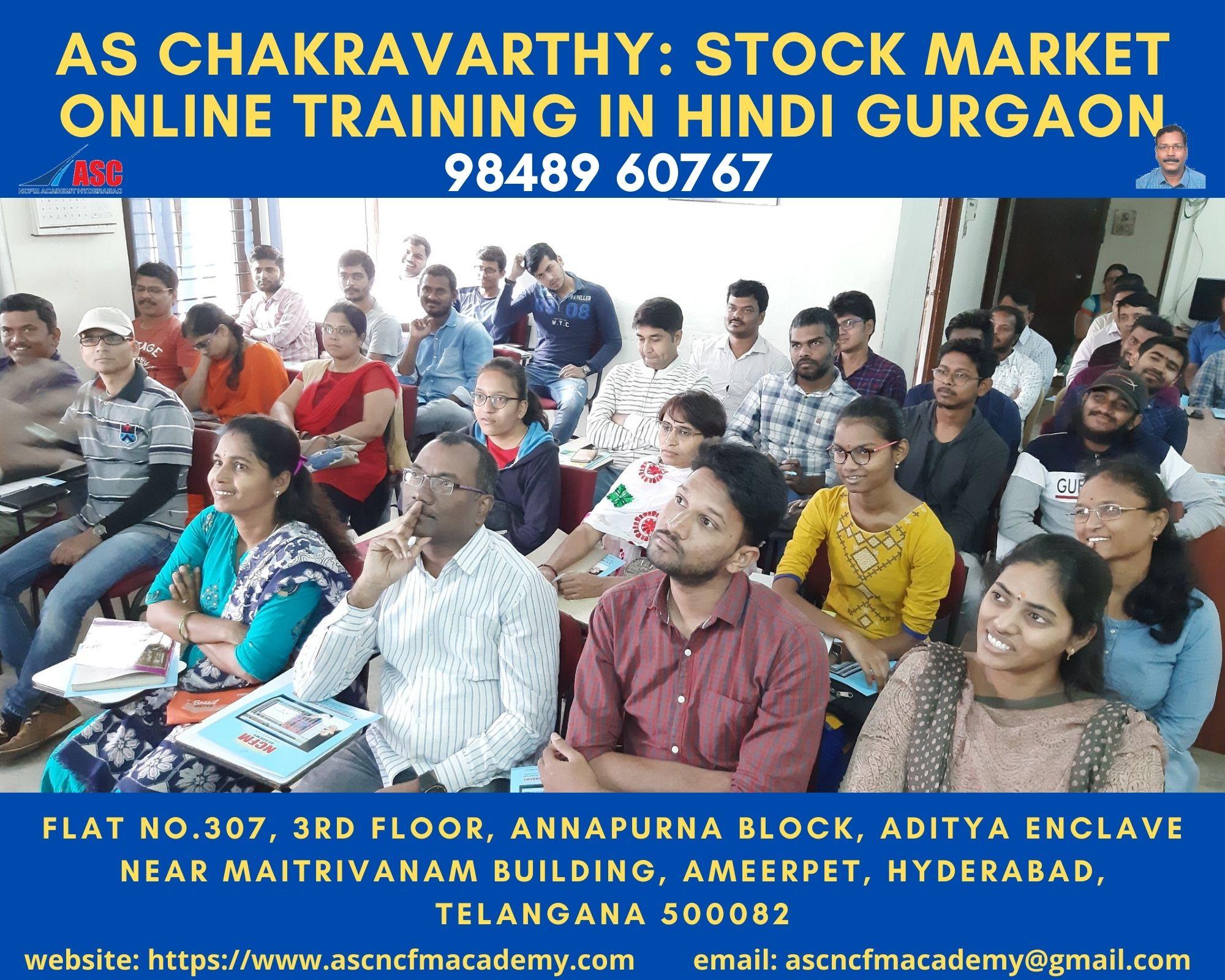 Online Stock Market Technical Training in Hindi Gurgaon