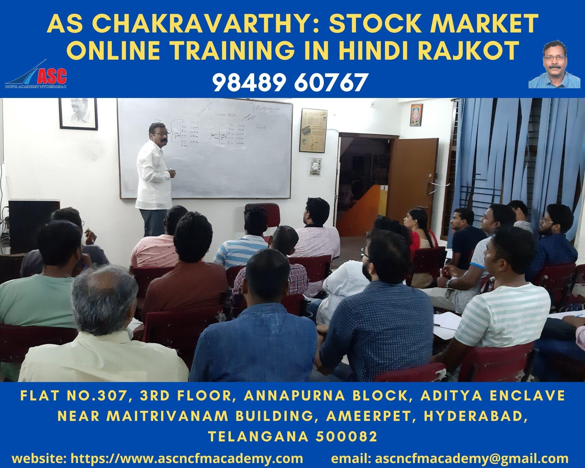 Online Stock Market Technical Training in Hindi Rajkot